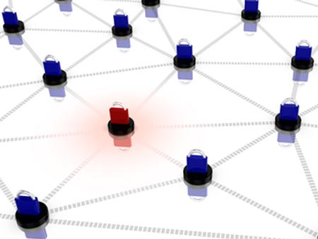 Insecure network concept illustration